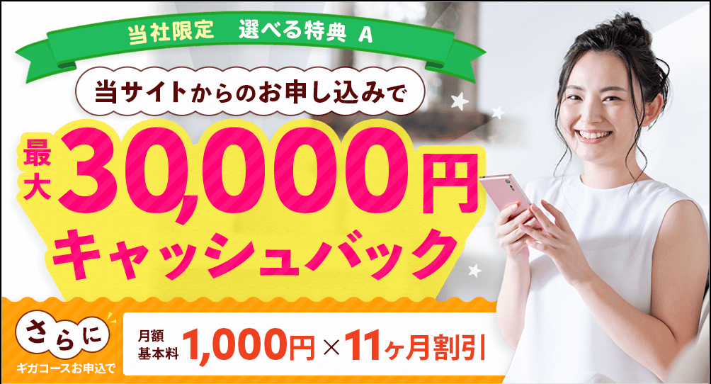 BBIQ光インターネット 代理店「株式会社NEXT」キャンペーン